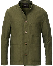Hannu Linen Shirt Jacket Green