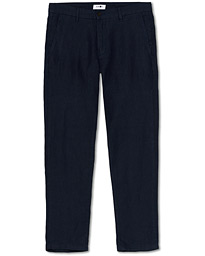 NN07 Karl Linen Trousers Navy