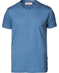 Orlebar Brown OB Merino Crew Neck Tee Blue Haze