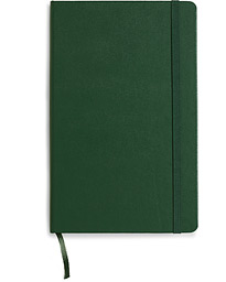 Ruled Hard Notebook Large Myrtle Green