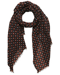 Altea Medallion Printed Scarf Navy/Red