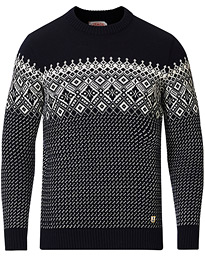 Armor-lux Wool Jacquard Sweater Navy