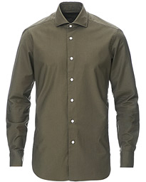 Culto Slim Fit Washed Oxford Shirt Olive