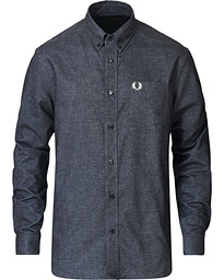 Fred Perry Brushed Oxford Shirt Black