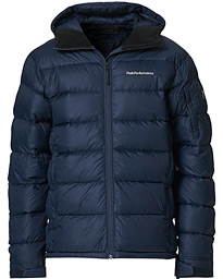Frost Down Hooded Jacket Blue Shadow