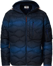 Ben Gorham Helium Hooded Jacket Blue Pattern
