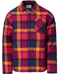 Ben Gorham Flannel Liner Overshirt Power Pink