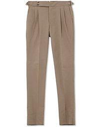 PT01 Gentleman Fit Double Pleat Trousers Light Brown