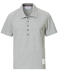 Thom Browne Side Slit Short Sleeve Polo Heather Grey