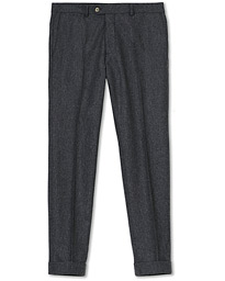 Dean Turn Up Flannel Trousers Grey