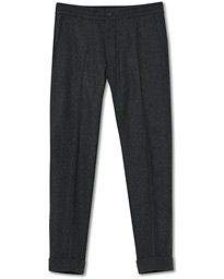 Nolan Drawstring Wool Trousers Grey