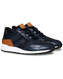 Allaciato Luxury Running Sneaker Navy Calf