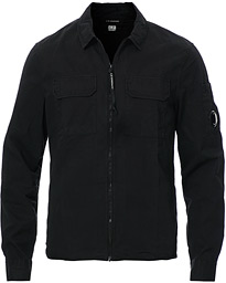 C.P. Company Garment Dyed Overshirt Black