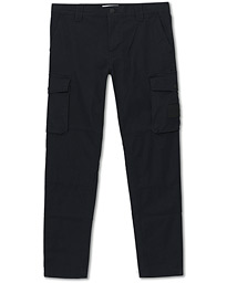 Skinny Fit Washed Peached Cargo Pants Black