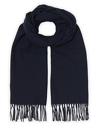 Colin Wool Scarf Navy