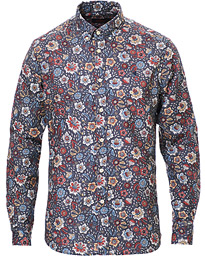Nash Printed Flower Button Down Shirt Navy
