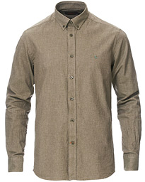 Nelson Flannel Button Down Shirt Olive