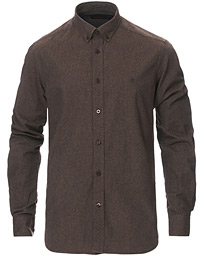 Nelson Flannel Button Down Shirt Dark Brown