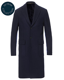 Structured Wool Patch Pocket Coat Navy