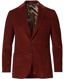 Mike Cord Suit Jacket Rust