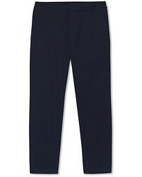 Foss Stripe Drawstring Trousers Navy