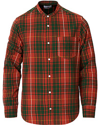 Justin Grandad Collar Check Shirt Multi