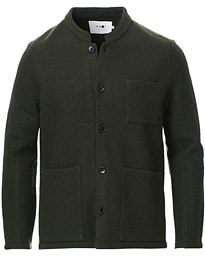 Oswald Wool Blazer Army Green