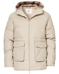 Mason Prima Loft Hooded Jacket Off White