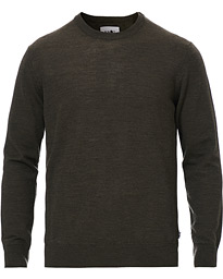 Ted Merino Crew Neck Pullover Army Green