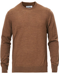 Ted Merino Crew Neck Pullover Brown