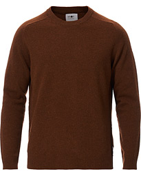 Edward Wool Crew Neck Pullover Canela Brown