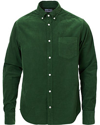 NN07 Levon Corduroy Shirt Bottle Green