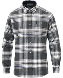 Barbour Lifestyle Highland Flannel Check Shirt Grey Marl