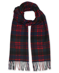 Barbour Lifestyle New Check Tartan Lambswool/Cashmere Scarf Red