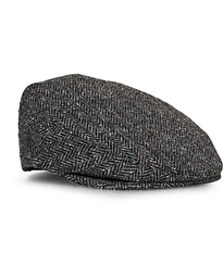 Lock & Co Hatters Glen Herringbone Cap Grey/Black
