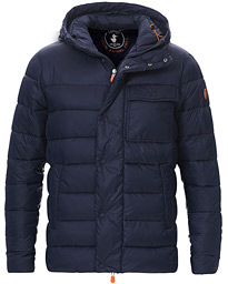 Lightweight Padded Front Pocket Jacket Blue Black
