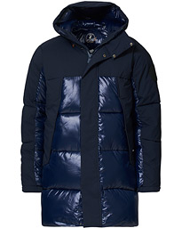 Long Padded Parka Navy