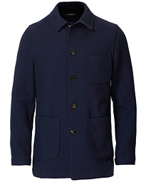 Lardini Wool Overshirt Navy