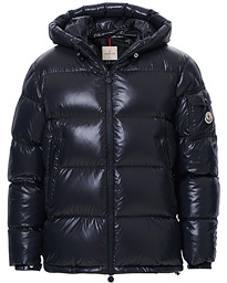 Moncler Ecrins Gloss Down Jacket Navy