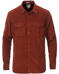 Stretch Corduroy Shirt Burnt Sienna