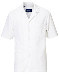 Eton Relaxed Fit Short Sleeve Terry Shirt White