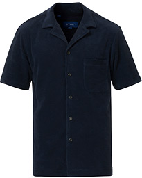 Eton Relaxed Fit Short Sleeve Terry Shirt Navy