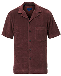 Eton Relaxed Fit Short Sleeve Terry Shirt Wine