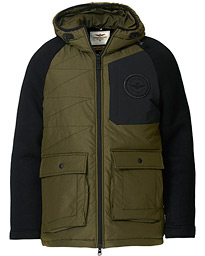 Padded Hood Jacket Verde Medio/Black