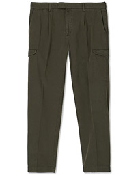 Brushed Cotton Cargo Trousers Olive