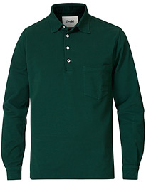 Drake's Long Sleeve Popover Heavy Pique Forest