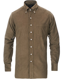 Button Down Needlecord Shirt Olive