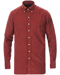 Button Down Needlecord Shirt Burgundy