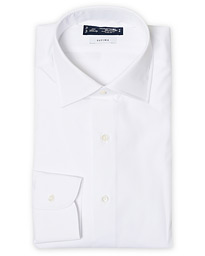 Slim Fit Pinpoint Oxford Shirt White