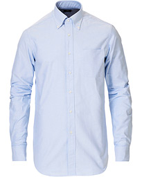 Slim Fit Oxford Button Down Shirt Light Blue